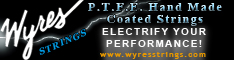 P.T.F.E. Coated Instrument and Guitar Strings