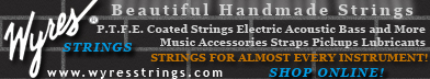 Shop Online for P.T.F.E. Coated Guitar and Instrument Strings