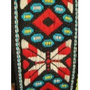 "Hoot ""Red W/ Black ends"" Guitar Strap"